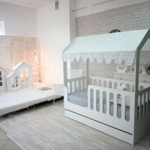 Кровать подростковая «Wooden bed»-5 с ящиком 160*80