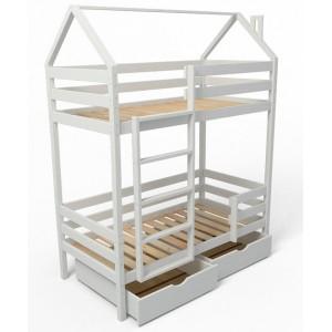 Двухъярусная кровать-домик 160х80